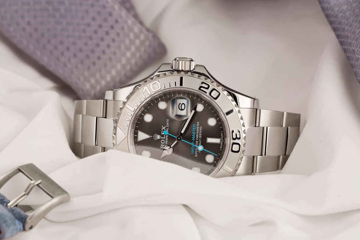 Platinum Rolex Yacht-Master Sizes 116622 Rhodium