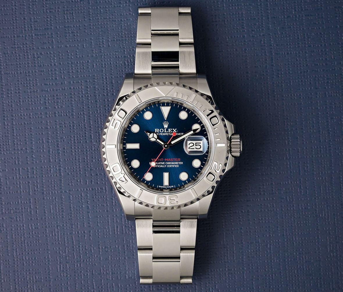 Rolex Yacht-Master Sizes Rolesium 116622 Platinum Blue Dial