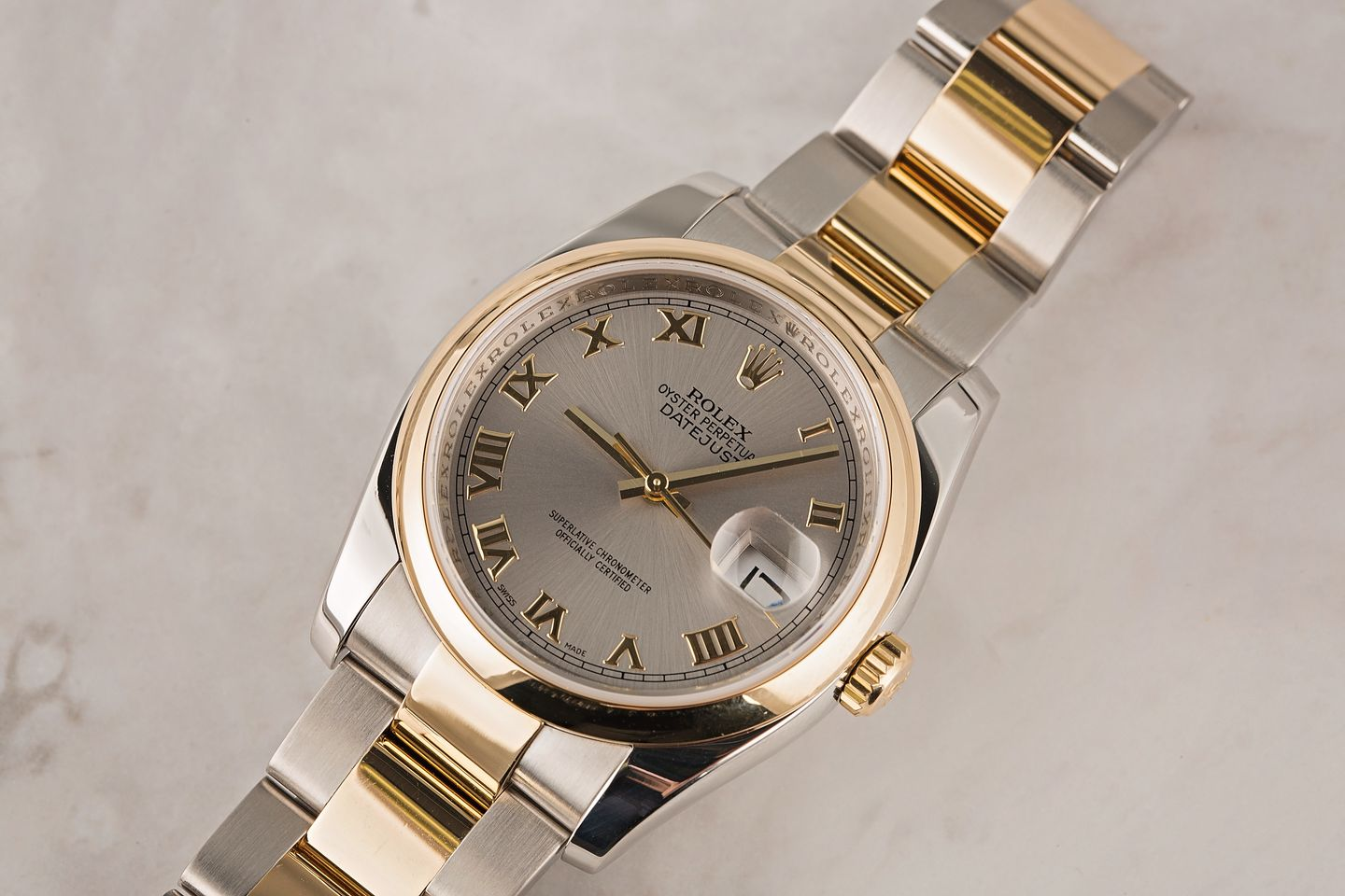 Rolex Oyster Perpetual Datejust Rolesor Two-Tone Steel and Gold 116203