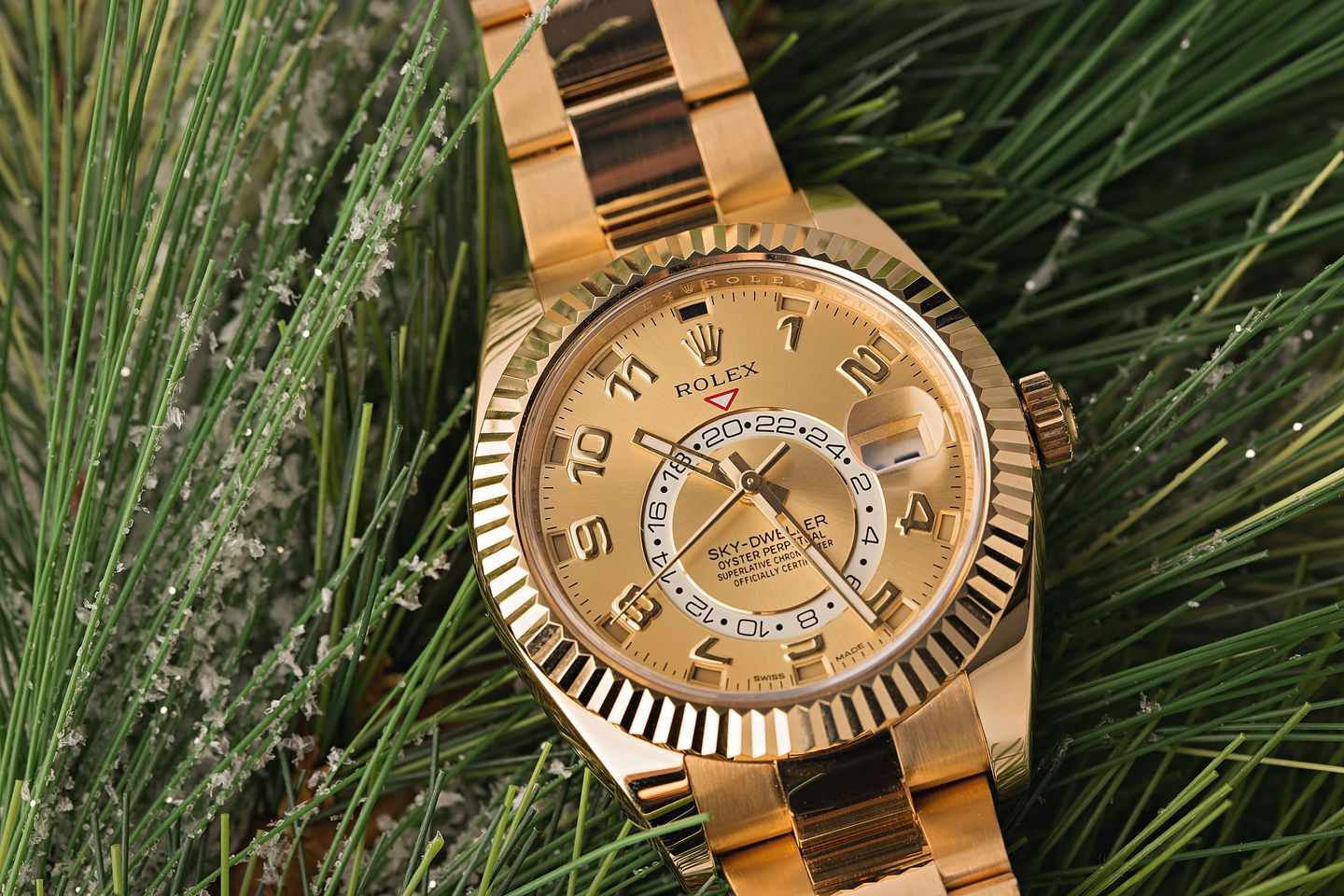 Watches for Fall - Rolex Sky-Dweller gold