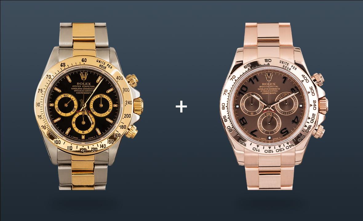 Rolex Watches Daytona Two-Tone Everose Gold