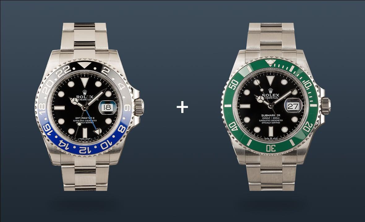 Rolex Watches GMT-Master II Black Green Bezel