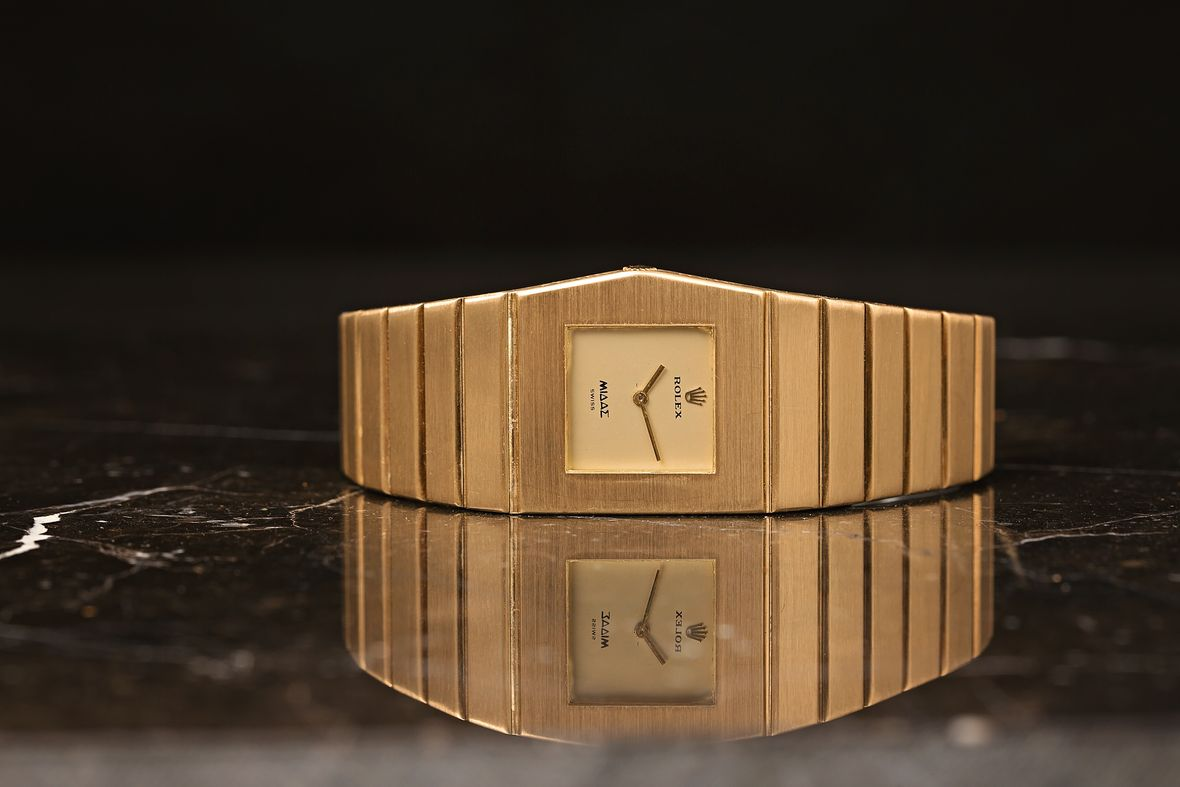 Rolex King Midas Cellini Gold Watch