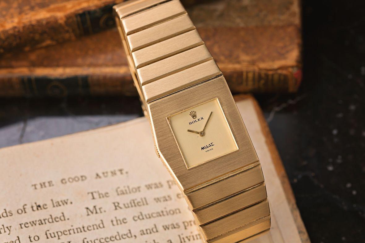 Rolex King Midas Integrated Bracelet Gold Cellini
