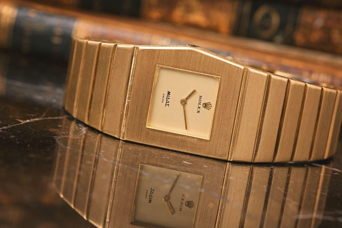 Rolex King Midas Yellow Gold Watch