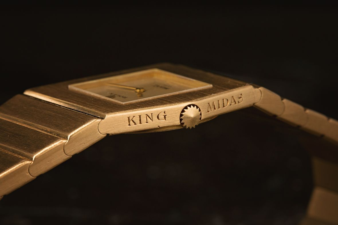 Rolex King Midas Gold Cellini Gold Watch Case Engraving Winding Crown