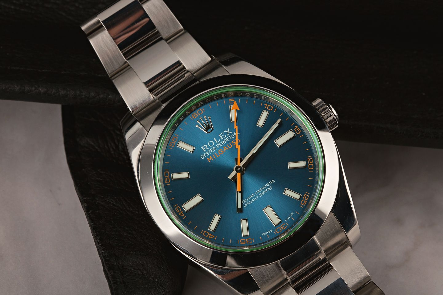 Are The Clear Crystal Rolex Milgauss Watches Discontinued? 116400GV Z-Blue Dial