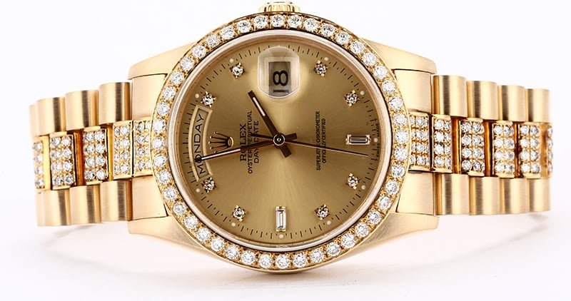 Rolex Day-Date 18348 with a Diamond President Bracelet