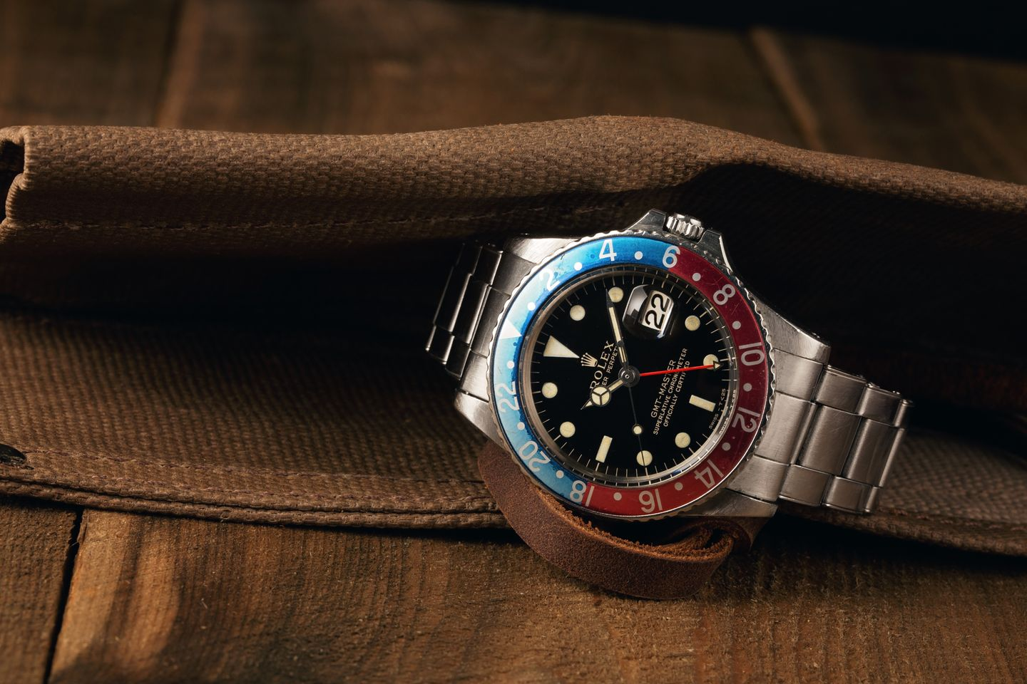Rolex Watches Vintage GMT-Master Pepsi Gilt Dial
