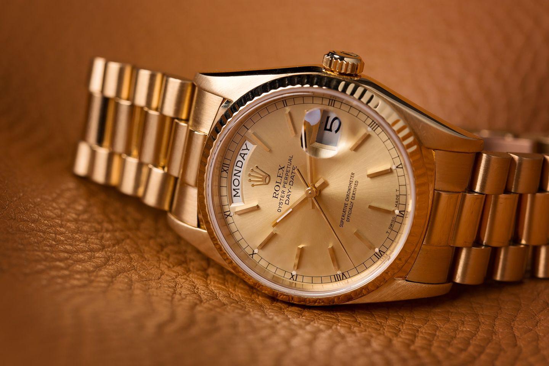 gold Rolex watch Day-Date President