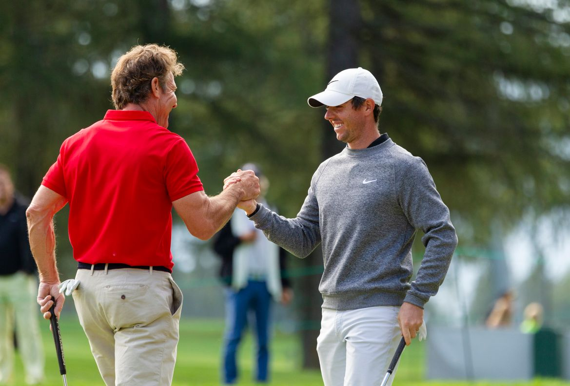 Omega Celebrity Masters - Dennis Quaid and Rory McIlroy