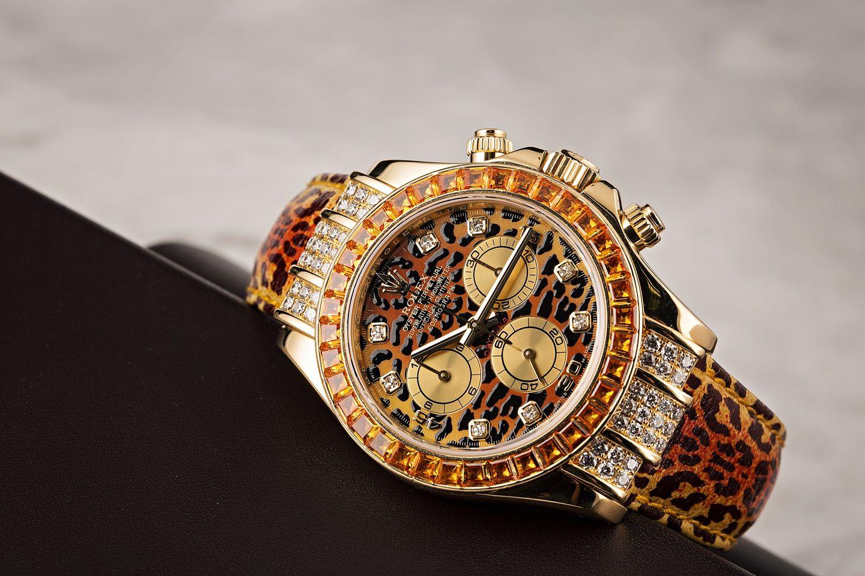 Rolex Daytona Leopard Diamonds