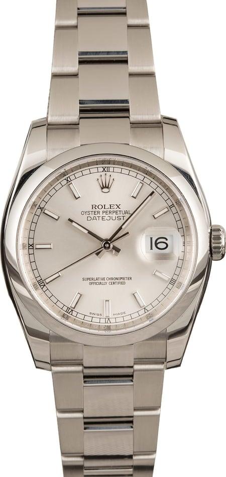Mid-Size Rolex Watches - Rolex Datejust 116200