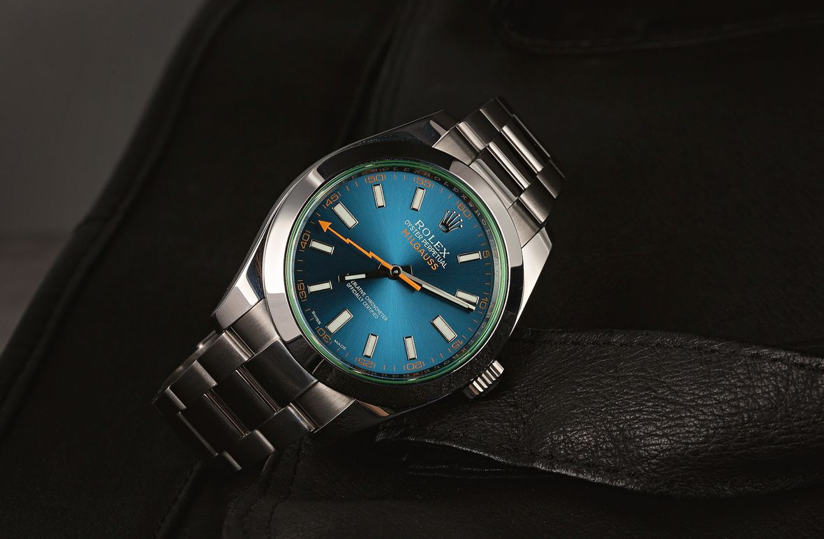 Rolex Milgauss Z-Blue Dial 116400GV Stainless Steel