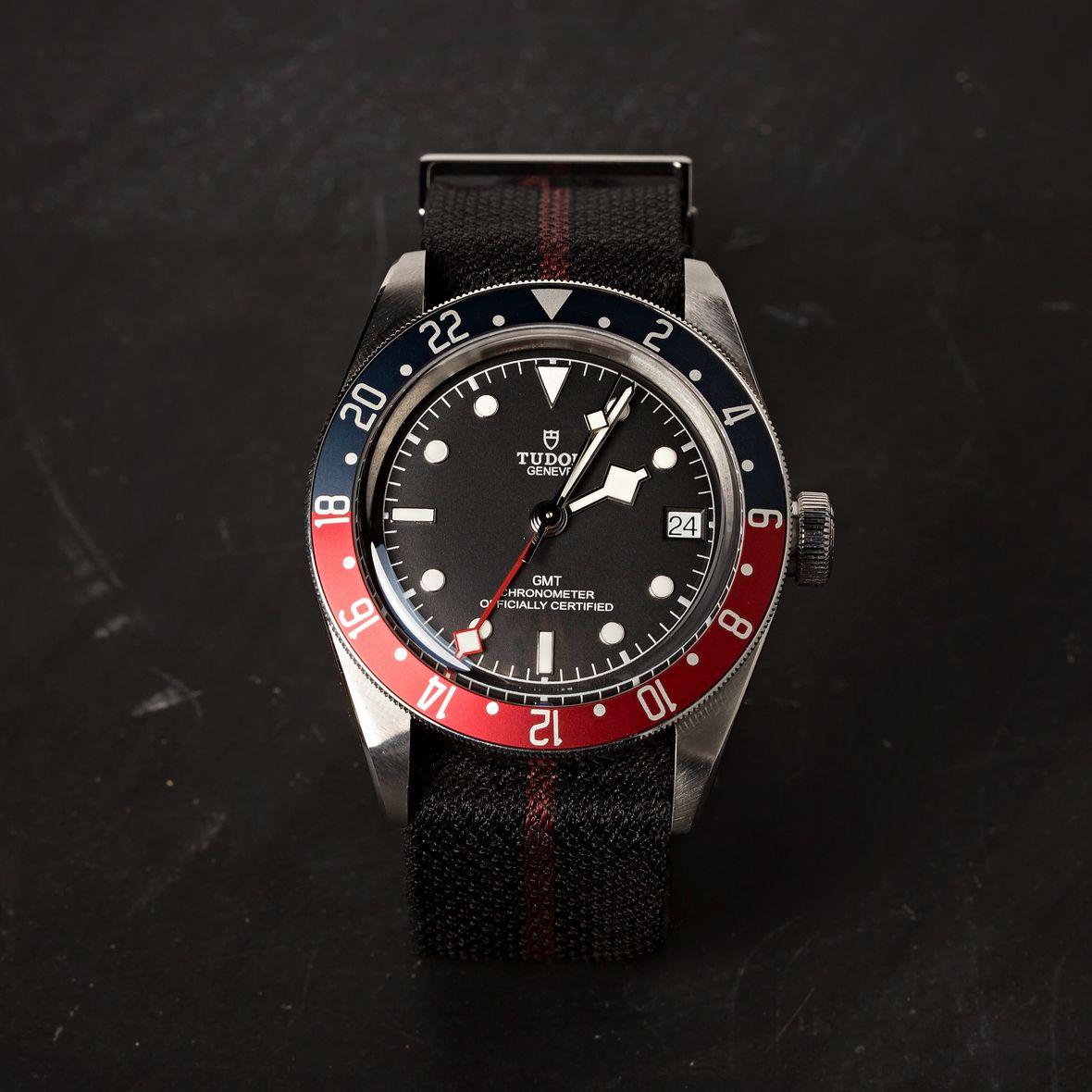 GMT Watches Tudor Black Bay Pepsi Fabric Strap