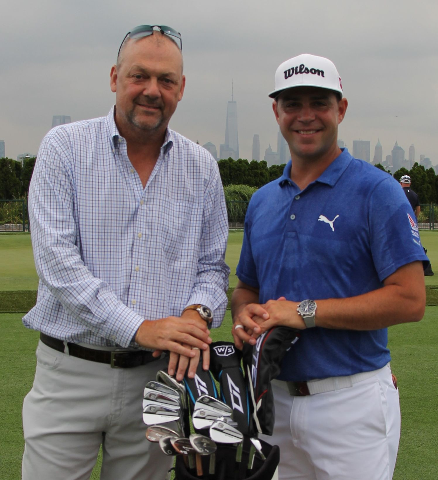 Gary Woodland and Thierry Prissert