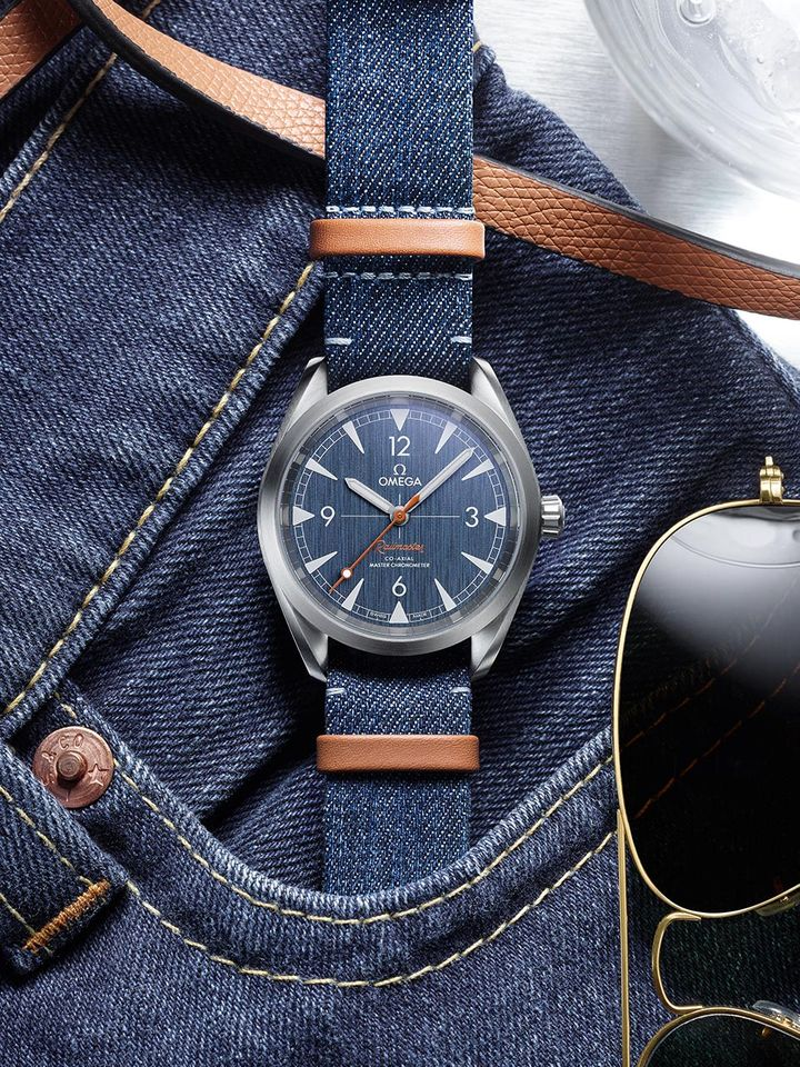 Omega Railmaster Co-Axial Denim