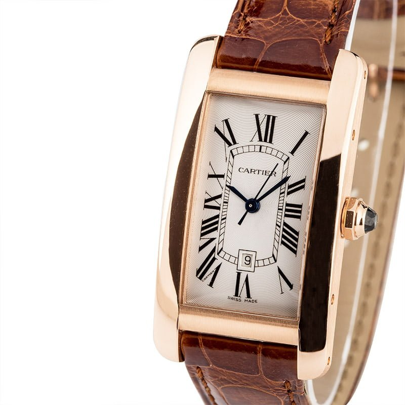 Cartier Tank Americaine W2620030 pink gold