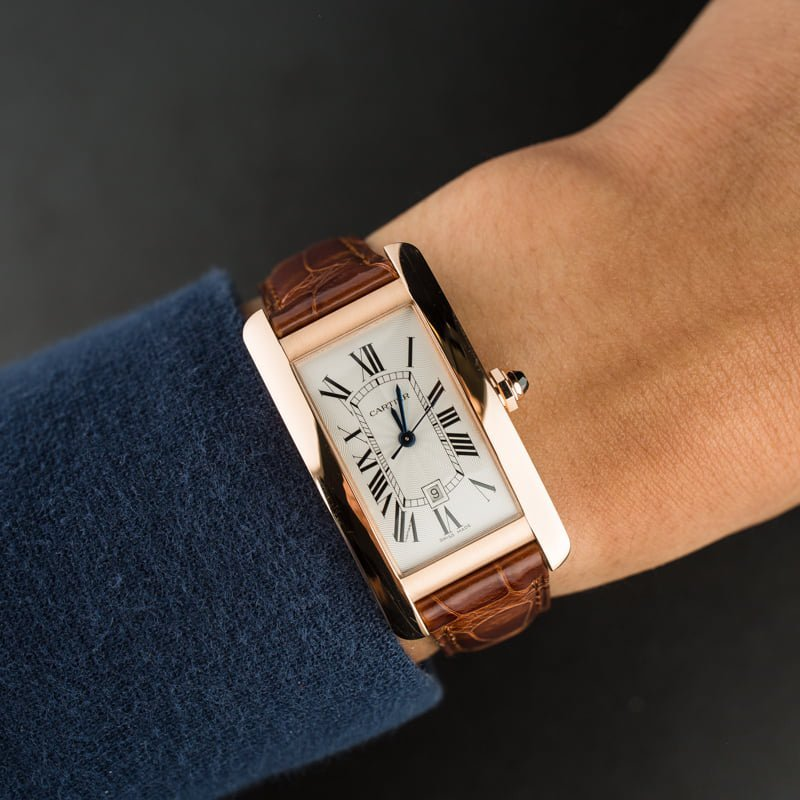 Pink gold Cartier Tank Americaine W2620030