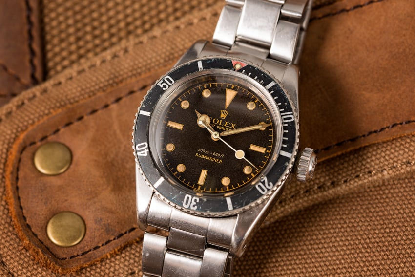 History of Rolex Military Watches - submariner 6538 bond