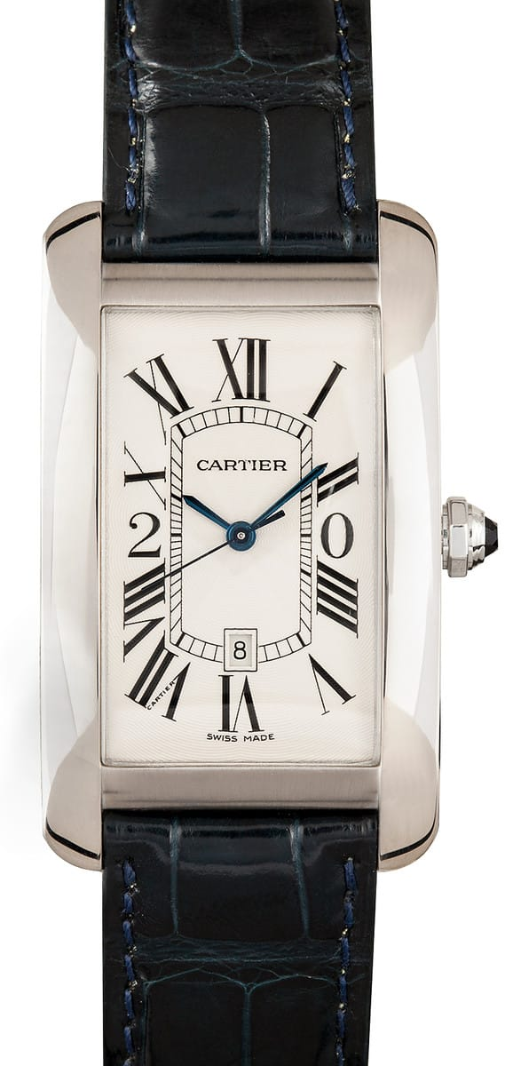 White Gold Cartier Tank Americaine 18k
