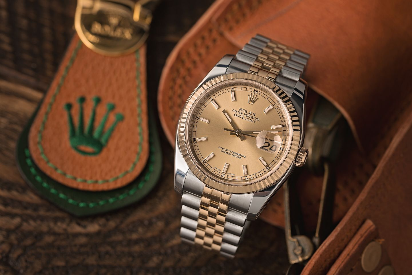 two-tone Rolex Oyster Perpetual Datejust steel and gold Evolution