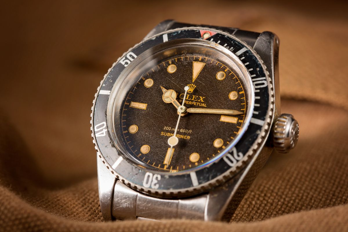 Big Crown Vintage Rolex Submariner 6538 James Bond