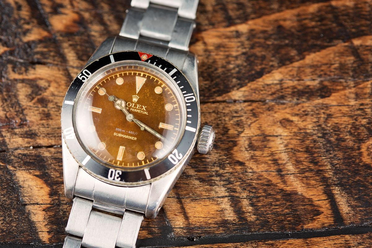 Vintage Rolex Submariner 6538 Tropical Dial