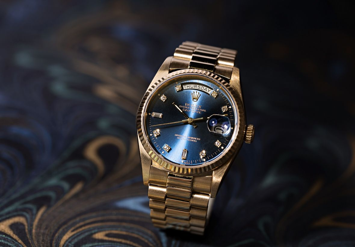History of Rolex Watches Gold Day-Date President Diamond Dial