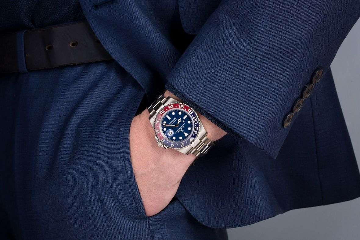 History of Rolex Watches White Gold GMT-Master II Pepsi Blue Dial