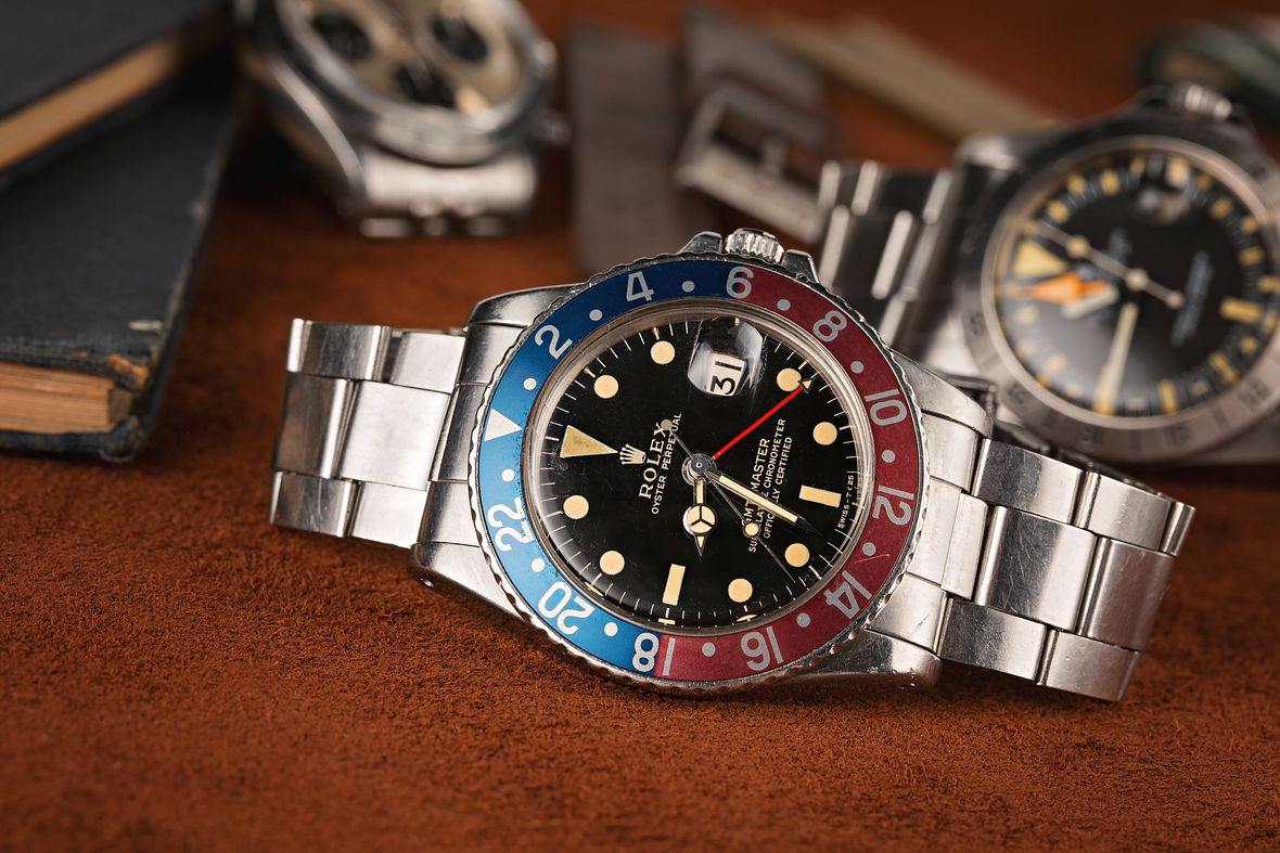 History of Rolex Watches Vintage GMT-Master Pepsi Gilt Dial
