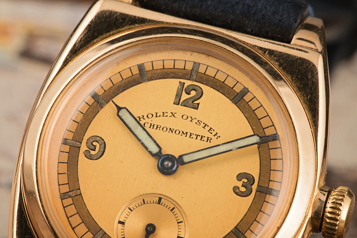 History of Rolex Watches Vintage Oyster Gold Case