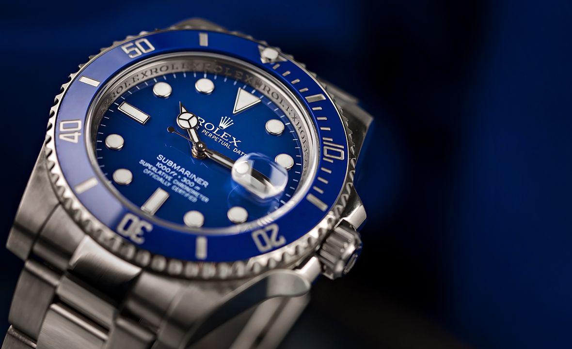 Rolex Submariner Blue White Gold 116619LB Smurf