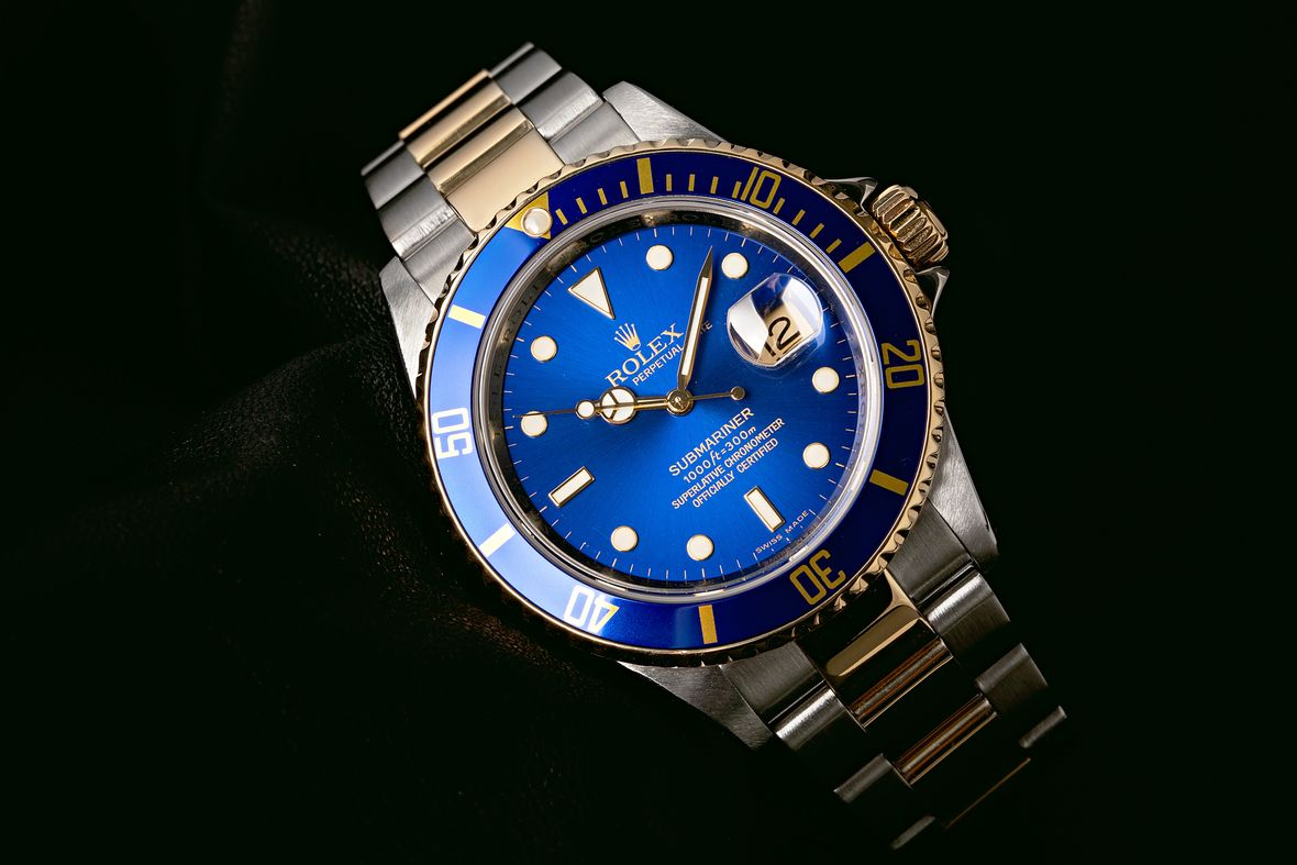 Rolex Submariner Blue 16613 Two-Tone Bluesy