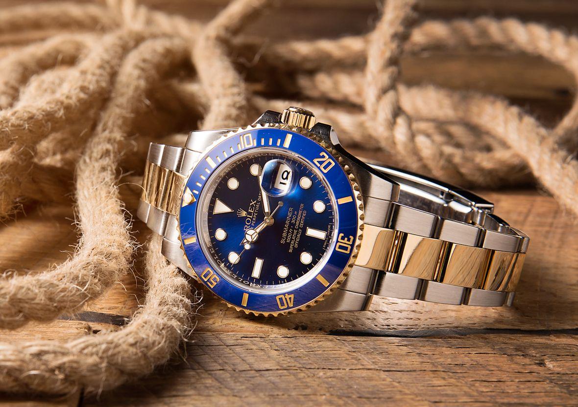 Rolex Submariner Blue 116613LB Sunburst Bluesy Steel and Gold