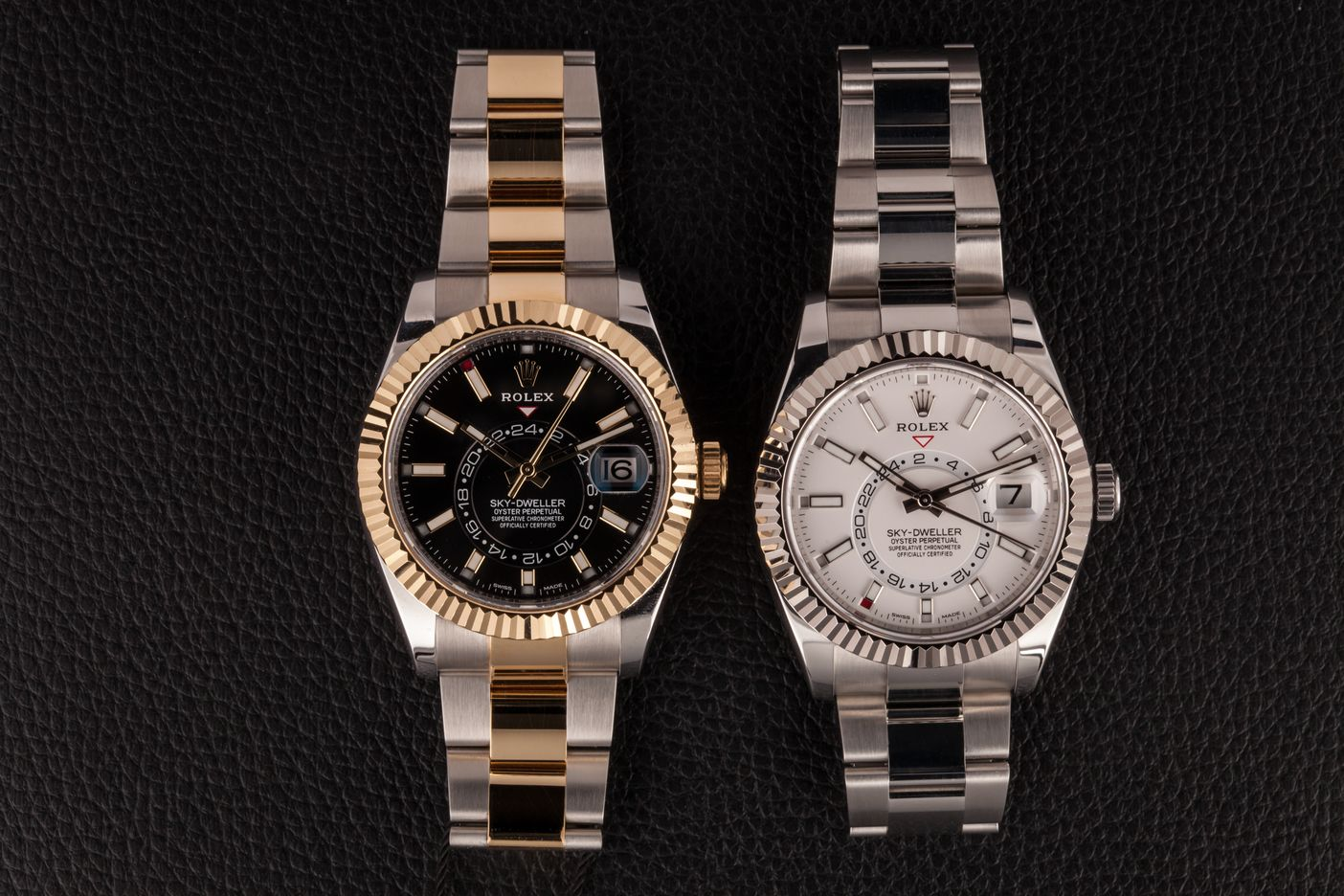 Rolesor Rolex Sky-Dweller GMT Watches Steel and Gold
