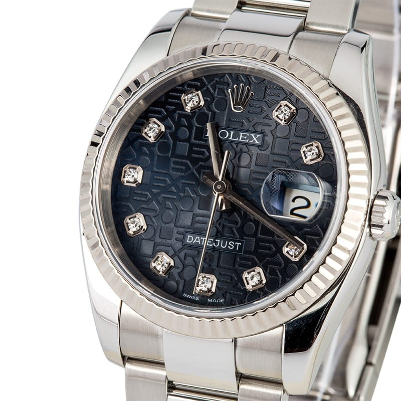 Rolex Datejust Jubilee Dial Diamond