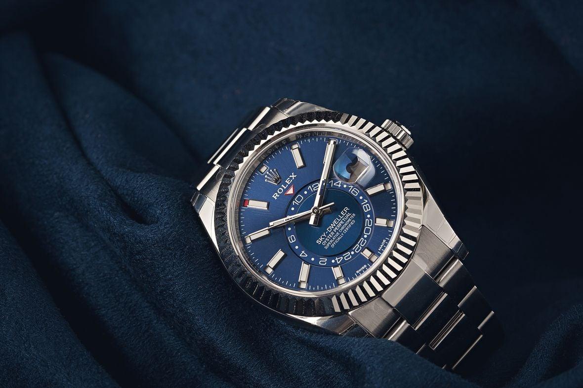 Blue Rolex Sky-Dweller Stainless Steel 326934