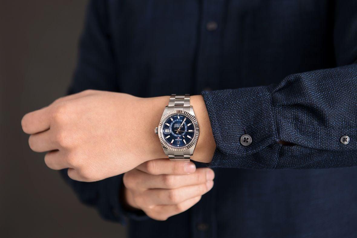 Rolex Blue Sky-Dweller 326934 Stainless Steel