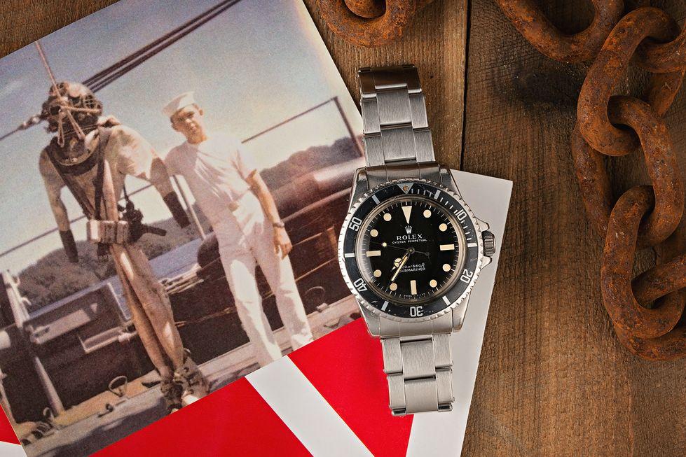 Vintage Rolex Submariner Watch Diver US Navy