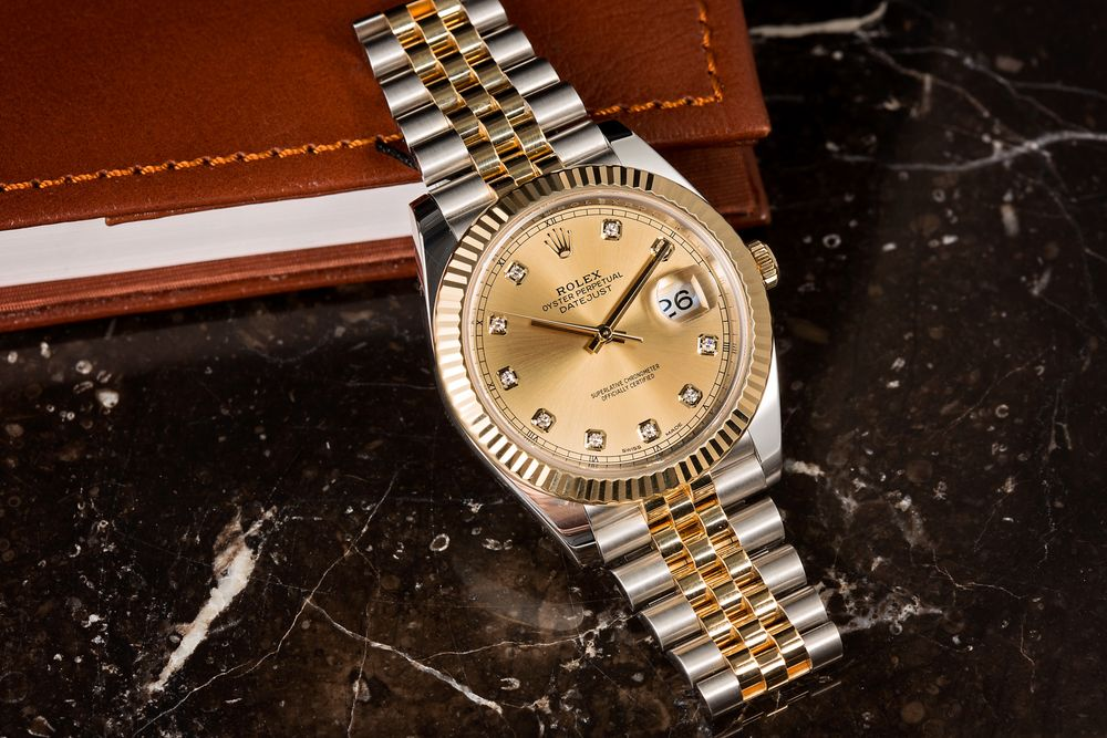 Used Rolex for Sale Shopping Tips Rolesor Two-Tone Datejust 41 Diamond Dial