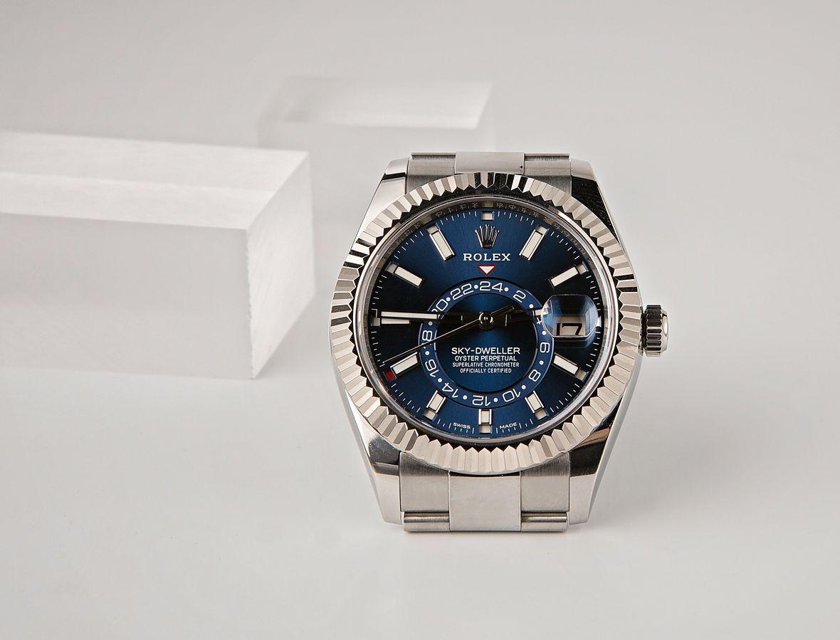 Rolex Blue Sky-Dweller 326934 Stainless Steel White Rolesor