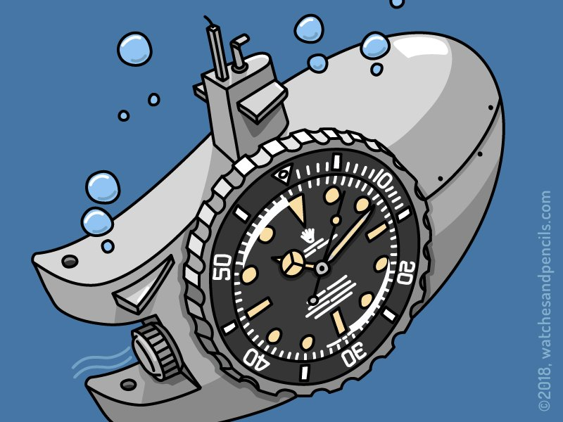 watch themed gifts for men Teun van Heerebeek Watches and Pencils Rolex Submariner