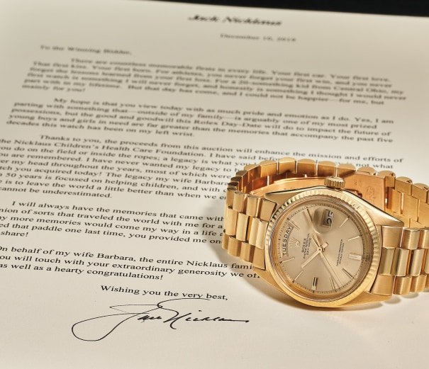 Jack Nicklaus Rolex Day-Date President Golf