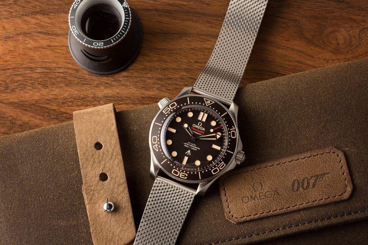 James Bond Omega Seamaster Diver 300M Titanium 007Edition No Time to Die