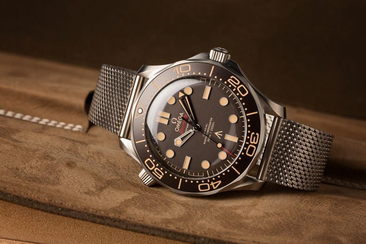James Bond Omega Seamaster Diver 300M No Time to Die 007Edition Titanium Mesh Bracelet
