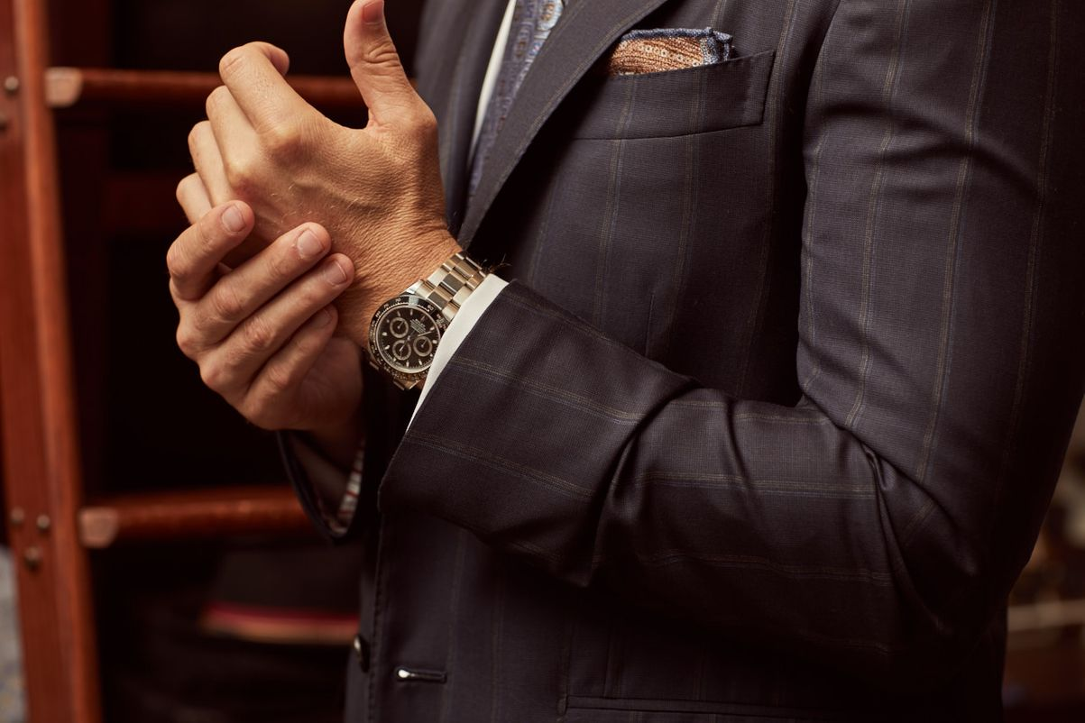 Rolex watches how to style with formal suit