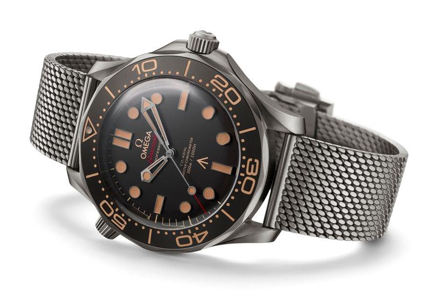 Omega Seamaster Diver 300M James Bond 007 Edition titanium mesh bracelet