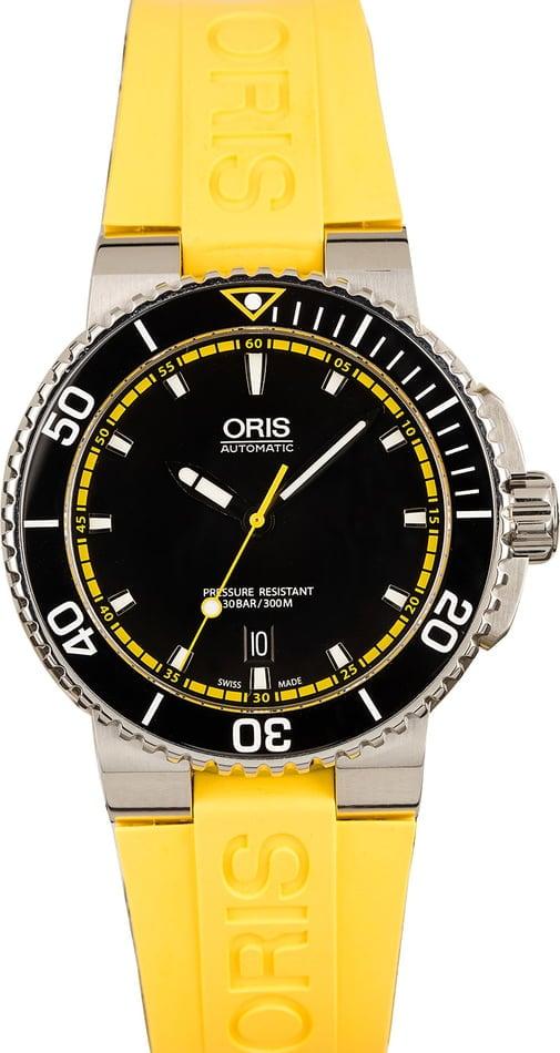 Oris Aquis Yellow strap
