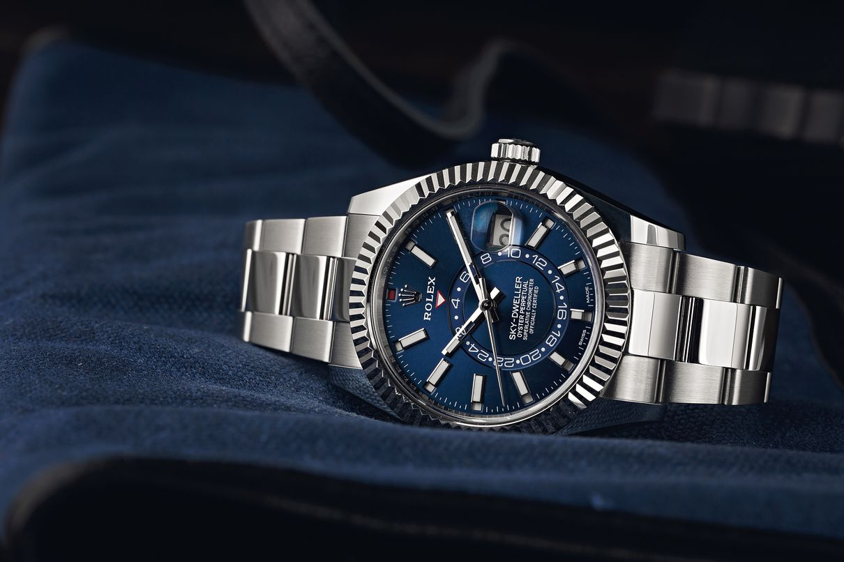 Is the Rolex Sky-Dweller a GMT Watch? Stainless Steel Blue Dial 326934